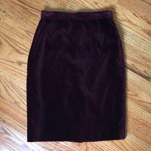Vintage Escada Deep Purple Velvet Skirt